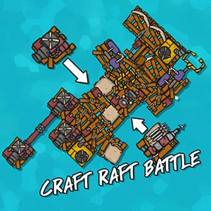 Craft Raft Battle